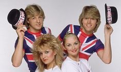 Bucks Fizz (clockwise from top left): Bobby G, Mike Nolan, Cheryl Baker and Jay Aston.Their song The Land of Make believe Lyrics are so dark they don't match the tune.