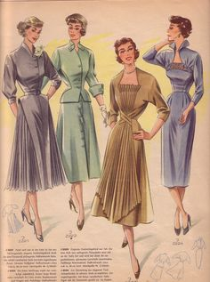 Ideas for sewing clothes women gowns dress patterns Vintage Fashion 1950s, Vintage Mode, Vintage Hats, Victorian Fashion, Vintage Style, Vintage Outfits, Vintage Dresses, New Fashion, Trendy Fashion
