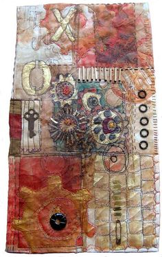 Using Teabags in Artwork by Judy Coates Perez and Jane LaFazio http://janeville.blogspot.com/2010/12/judy-coates-perez-is-friend-of-mine-and.html