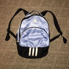 Adidas Backpack! Like New!! Baby Blue Adidas Backpack! Used once! Has many pockets! One for a mini tablet! Like New! Adidas Bags Backpacks