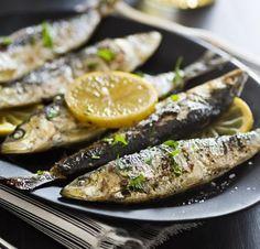 Grilled lemony sardines