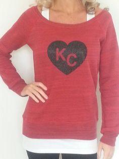 Kansas City Black Glitter Heart Sweatshirt   Sideline Chic