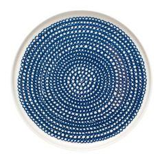 Marimekko Siirtolapuutarha Blue Dinnerware - Decorated Dinnerware - Tableware - Dining Room @Betsy Buttram Healy UK