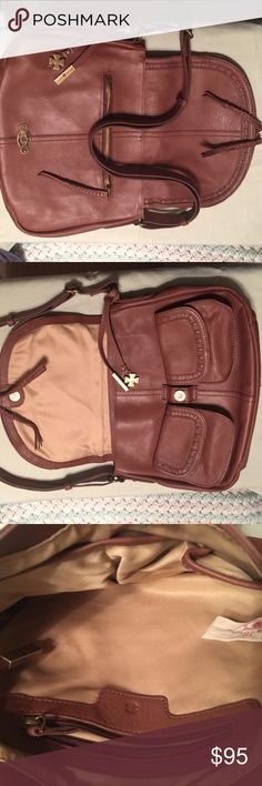 Lucky 🍀 Brand Leather Shoulder Bag Authentic 100% leather. Made in India. Pre-owned but in excellent & perfect condition because it was rarely used. Multiple storage compartments and pockets. Interior lining 100% polyester. Adjustable shoulder strap. Lucky Brand Bags Shoulder Bags