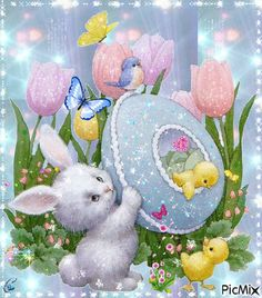 Religious Happy Easter Greetings images day wishes Happy Easter Gif, Happy Easter Greetings, Easter Messages, Easter Wishes, Ostern Wallpaper, Images Wallpaper, Easter Bunny Pictures, Images Gif, Happy Images