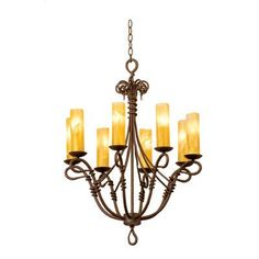 Kalco Vine 8 Light Candle-Style Chandelier Shade Type: Green