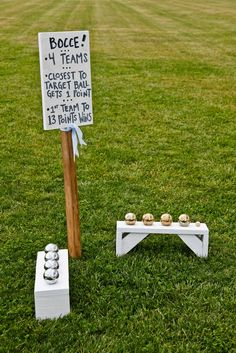 games on the lawn.. probably wouldn't be a bad idea to explain how bocce works!