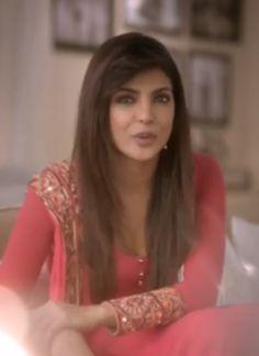 Priyanka Chopra wearing an Arpita Mehta suit