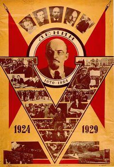 Propaganda Celebrating the 5th Anniversary of Lenin's Death (USSR, 1929)