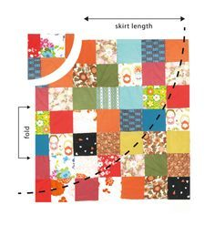 How to sew a reversible wrap patchwork skirt