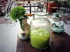 Toasted corn and mint infused water at Maiz de Mar (photo by Carla Danieli)
