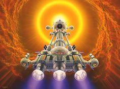 Ilustraciones de ciencia ficción de Shuseis Nagaoka