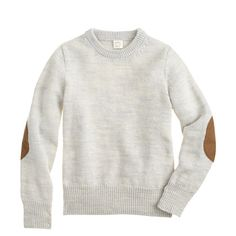 Made from textured merino wool, this sweater is the perfect layer for the little guy who doesn't mind looking handsome. For an added touch of Ivy League style, we added suede elbow patches. Quite simply, this is how the pupil dresses better than the teacher. <ul><li>Merino wool.</li><li>Hand wash.</li><li>Import.</li></ul>