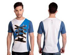 Camiseta Across | Cód.5023 | Camiseta com recortes e estampa silk frontal. Produto elaborado com malha 100% algodão.