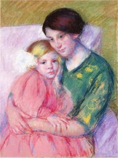 Mother and Child Reading - Mary Cassatt, 1913
