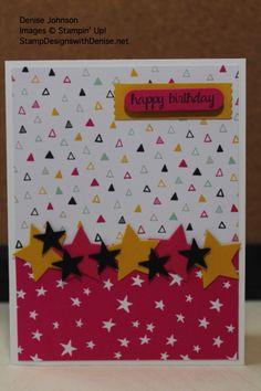 Birthday stars - great sketch card