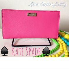 """Girly Girl Host Pick by hilarysmom! Spotted while shopping on Poshmark: """"♠️Bazooka Pink Stacy Continental Wallet♠️""""! #poshmark #fashion #shopping #style #kate spade #Clutches & Wallets"""