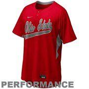 Nike Ohio State Buckeyes Scarlet Batting Practice Top Performance Baseball Jersey