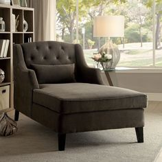 online shopping for Epperly Chaise Lounge Darby Home Co from top store. See new offer for Epperly Chaise Lounge Darby Home Co New Living Room, Living Room Chairs, Living Room Furniture, Living Spaces, House Furniture, Chinoiserie, Tufted Chaise Lounge, Chaise Lounges, Lounge Chairs