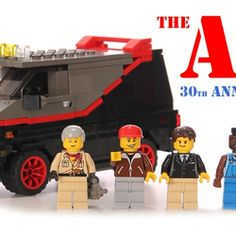 Tatatataaa Tatataaaa! Here comes Hannibal Smith, Murdock, Face and B.A. Baracus with their 1982 GMC A-Team Van.Can you imagine it's been 30 years ago since one of the best eighties television series was introduced? Yes, it's the 30th anniversary of the A-team!Wouldn't it be nice to celebrate that with a LEGO minifig A-team