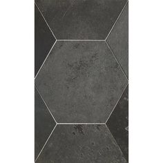 """Brazillian Black 8"""" Hexagon Tiles Hexagon Tiles, Slate Tiles, Tile Stores, Tiles Texture, Tile Patterns, Natural Stones, Tile Floor, Flooring, Basement"""