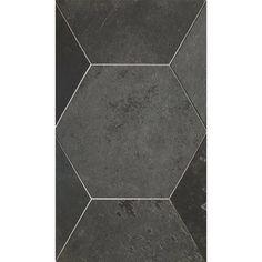 "Brazillian Black 8"" Hexagon Tiles Hexagon Tiles, Slate Tiles, Tile Stores, Tiles Texture, Tile Patterns, Natural Stones, Tile Floor, Flooring, Crafts"