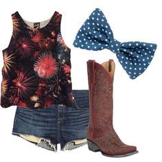 Country 4th by lbrunkho on Polyvore featuring polyvore fashion style Lovers + Friends rag & bone/JEAN country