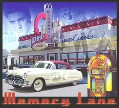how things use to be.  Retro Diners, Neon signs, juke boxes Cars with chrome bumpers, hood ornament, body trim, tail fins, chrome hub caps, white wall tires, continental kits, bucket seats, 4 in the floor....life was not easy, but it was good.