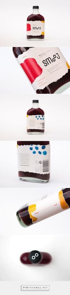Smooj is an Artistic Take on Cold Pressed Juice / design by Josephine Hermanto