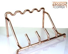 Handmade Copper Wine Rack Wine Storage by ProperCopperDesign Copper Furniture, Pipe Furniture, Copper Wine Rack, Wine Stand, Copper Work, Wine Bottle Holders, Wine Bottles, Copper Decor, Copper Tubing
