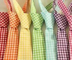 rainbow gingham ties