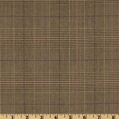 Yarn Dyed Plaid Suiting Brown/Purple; Fabric.com