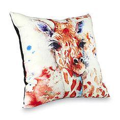 Square Decorative Pillow - Giraffe