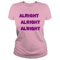 Alright pink and purple alright already funny tee shirts design