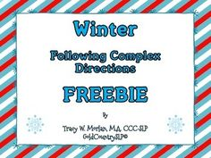 Winter Following Directions FREEBIE! Repinned by SOS Inc. Resources pinterest.com/sostherapy/.