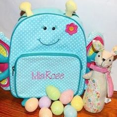 This year we are doing a twist on a traditional Easter basket thanks to @pcgifts ! This adorable personalized backpack will be such a fun surprise for Mia! I love that Personalized Creations has a personalized gift for all occasions. • • • • • #ad #sp #personalcreations #personalized #gifts #gift #instamood #instagood #instadaily