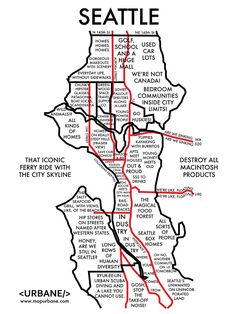 The map that includes Seattle's magical food forest. / 8 City Maps That Are Annoyingly Accurate (via BuzzFeed)
