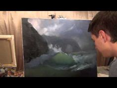 ▶ How to draw sea waves. Sea storm. The best lesson. - YouTube
