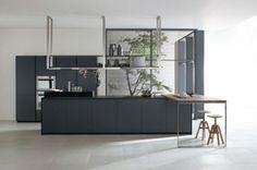 20 moderne Kücheninsel Designs - grau kücheninsel designs minimalistisch idee design