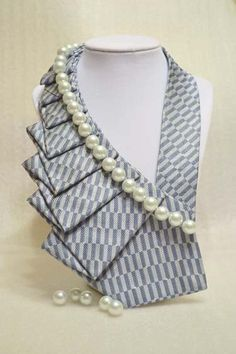 Pearls Unique Repurposed Necktie Necklace / Trendy by stylesbyana, $34.99