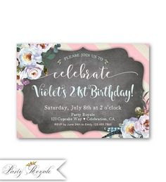 307 Best Birthday Invitations For Women Images