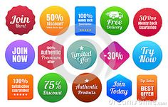 15 Colorful Ecommerce Badges