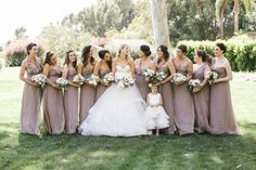 Neutral bridesmaid dresses: http://www.stylemepretty.com/california-weddings/rancho-santa-fe/2016/05/18/see-why-this-california-wedding-is-a-treasure-trove-of-pretty/ | Photography: Josh Elliott Studios - http://joshelliottstudios.com/