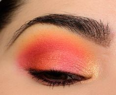 A Bright, Pink & Orange Eye with Make Up For Ever Artist Color Shadows | Temptalia
