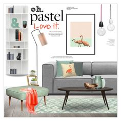 Pastel Love by szaboesz on Polyvore featuring interior, interiors, interior design, home, home decor, interior decorating, mater, Kenroy Home, Homecrest and Hot Topic