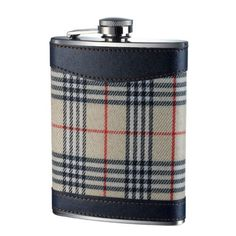 Hip Flask 8oz - Cream Tartan. Visit us now and ENJOY 10% OFF + FREE SHIPPING on all orders