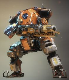 Scorch Prime is a Prime Titan appearing in Titanfall Angel City's Most Wanted update. It is a bulkier, more angular Scorch variant. Trivia According to The Art of Titanfall Scorch Prime was derived from a different Titan concept called Bison. Tactical Suit, Sci Fi Armor, Robot Concept Art, Robot Design, Sci Fi Characters, Sci Fi Fantasy, War Machine, Cool Artwork, Character Concept