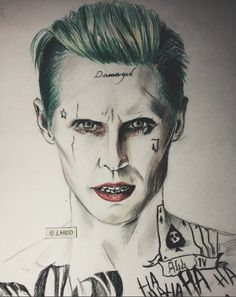 #MARSart | Incredible painting of Jared Leto as the Joker, made by j_hidd on IG