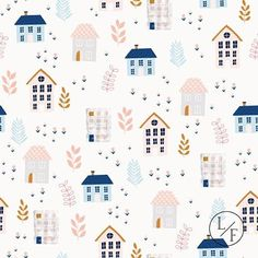 Neighborhood print  #studiolillaform #surfacedesign #illustration Kids Patterns, Textures Patterns, Print Patterns, Surface Pattern Design, Pattern Art, Travel Doodles, Design Repeats, Christmas Illustration, Kids Prints