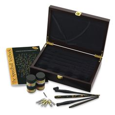 Collector's Wood Box Calligraphy Set | With heritage rooted in fine pen-making since 1899, the Speedball name is synonymous with high-quality lettering pens, nibs, and inks. This set is wonderful for beginners and collectors alike, specially crafted for this time-honored art form.